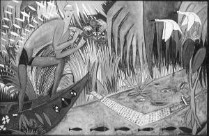 Pêcheur, 1912 Huile sur toile Presentée au Armory Show et achetée pour Elizabeth S. Cheever, New York, 1913