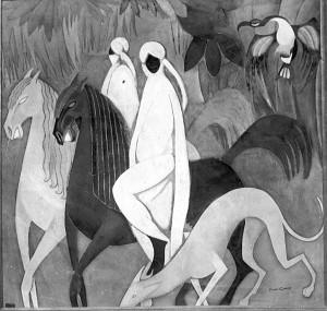 Cavaliers, 1911 Huile sur toile Presentée au XVIII Salon des Indépendants, 1912