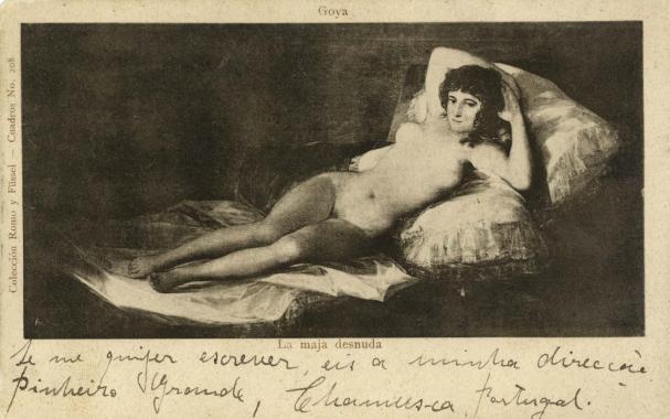 Postal d'Amadeo à Lucie. Madrid, 1911 Fonds Amadeo de Souza-Cardoso (FCG – Bibliothèque d'Art)
